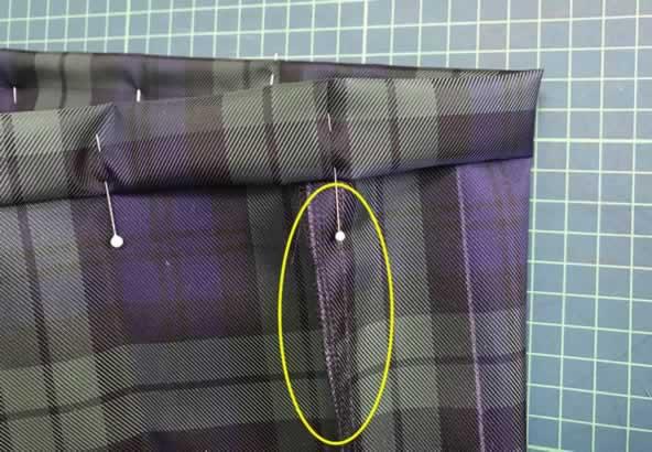 縫い代をたおす