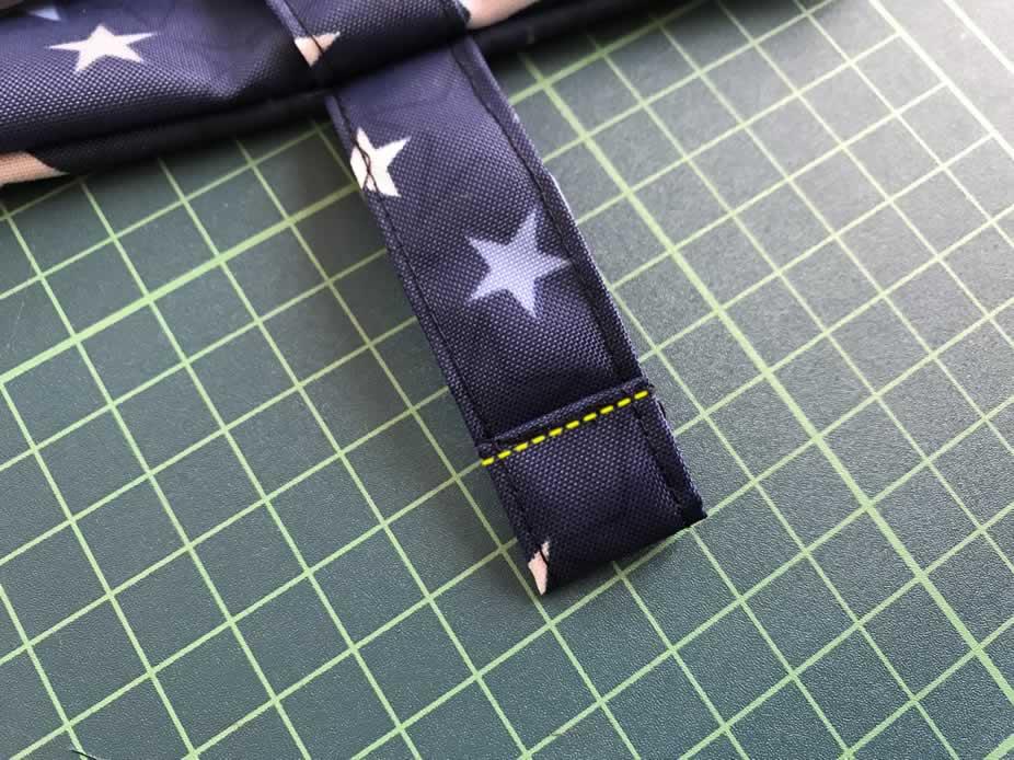 ベルトを縫う