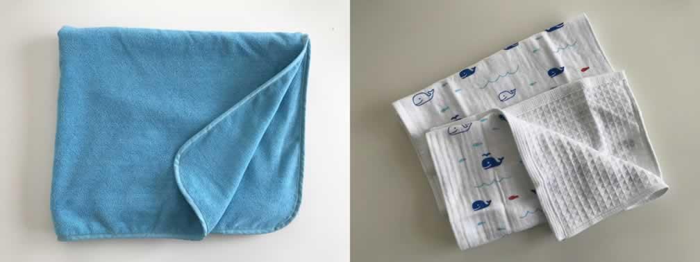 材料のタオル