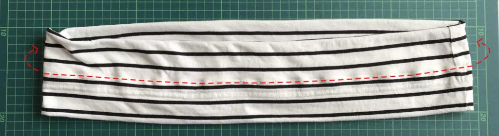 中心を縫う