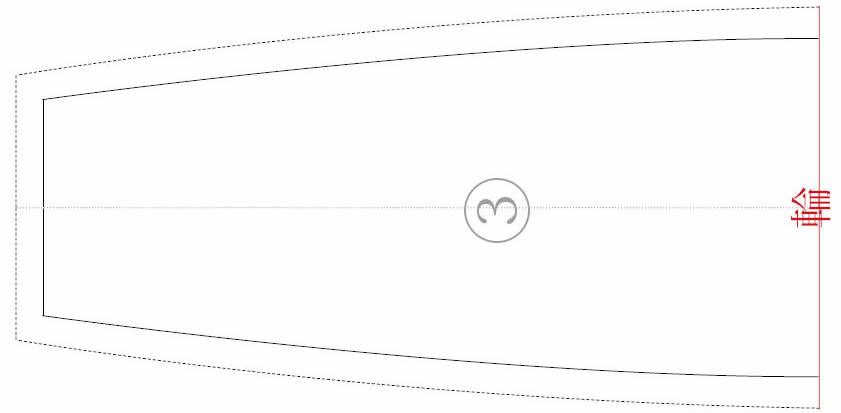 三角巾の型紙3
